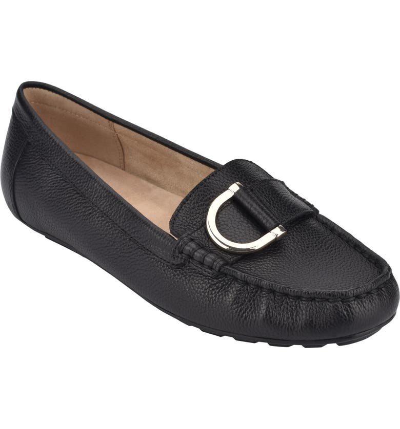 EVOLVE Mink Loafer, Main, color, BLACK LEATHER