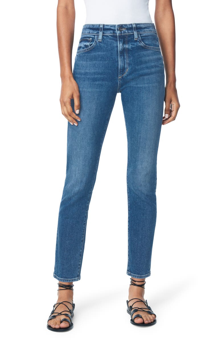 JOE'S Favorite Daughter Erin High Waist Ankle Straight Leg Jeans, Main, color, SUNSET STRIP