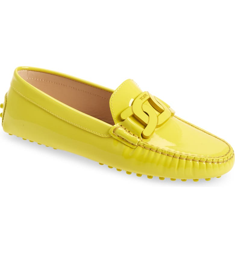 TOD'S Gommini Kate Chain Detail Driving Moccasin, Main, color, Yellow