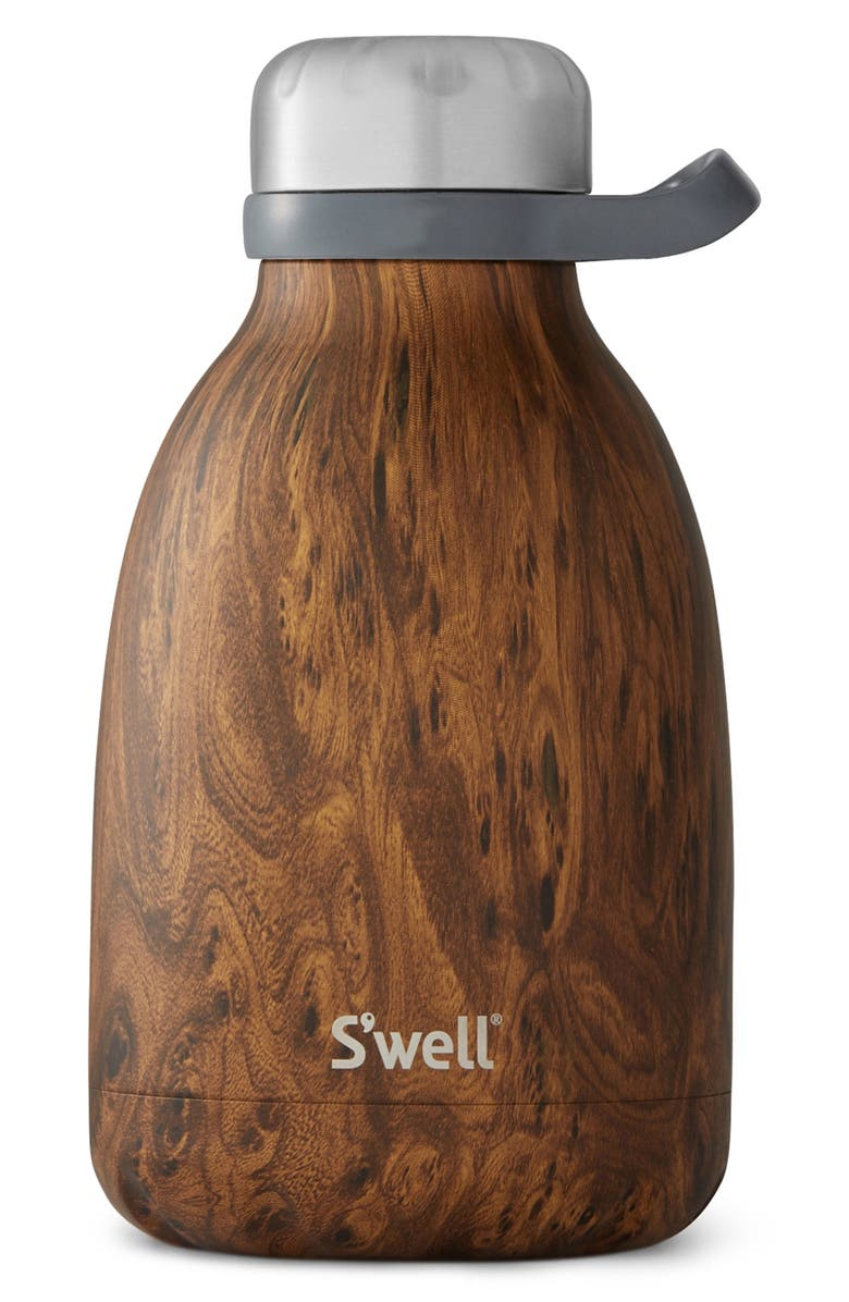S'WELL Roamer 40-Ounce Insulated Stainless Steel Travel Pitcher, Main, color, TEAKWOOD
