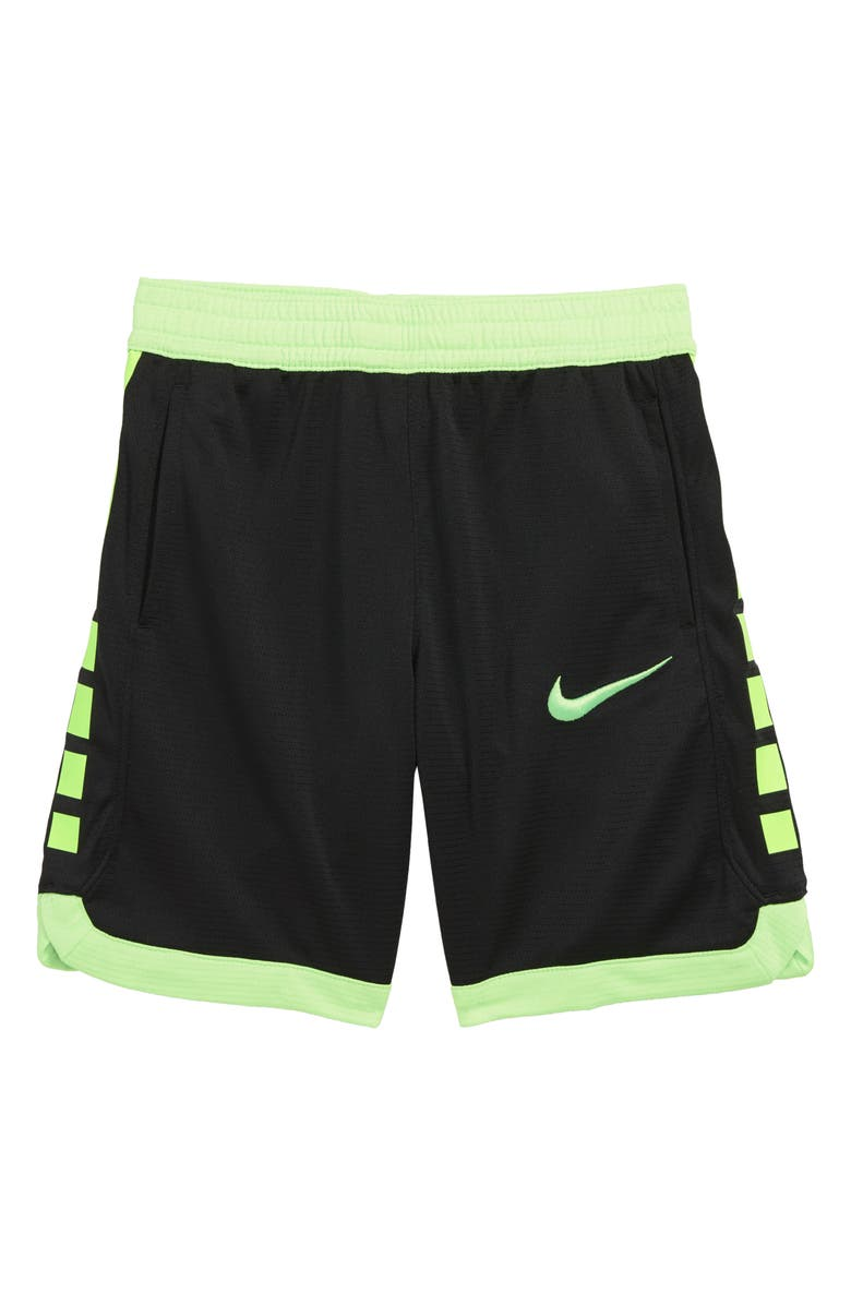 NIKE Dry Elite Stripe Athletic Shorts, Main, color, 002