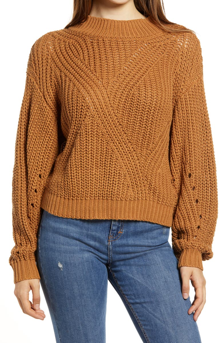 BP. Traveling Stitch Sweater, Main, color, 210