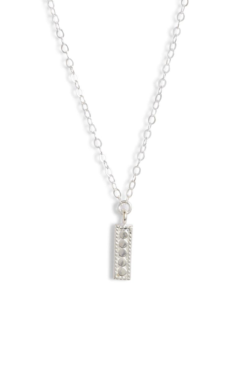 ANNA BECK Mini Vertical Bar Charity Pendant Necklace, Main, color, 040
