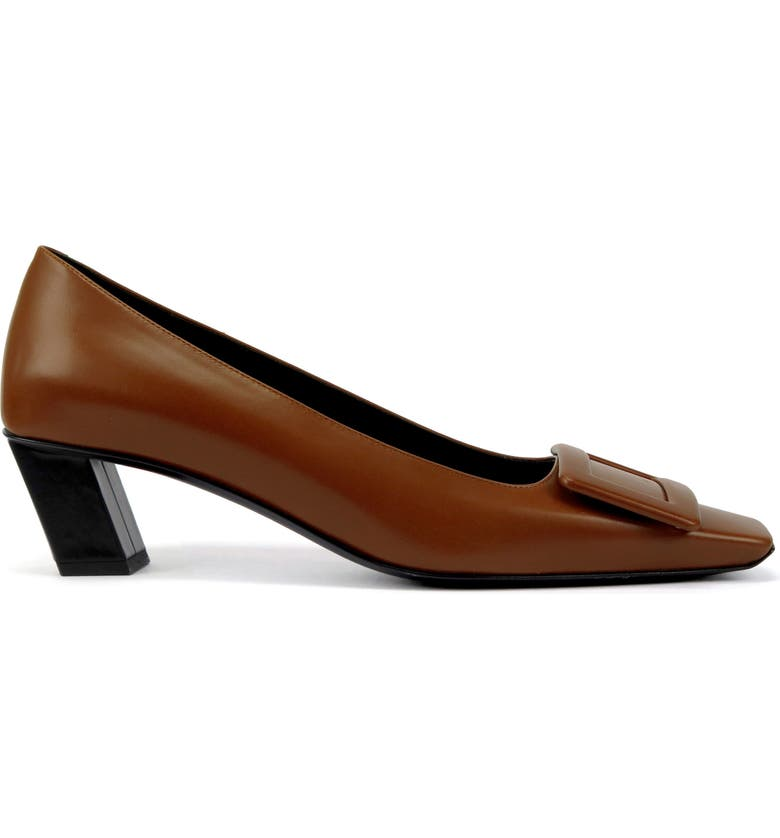 ROGER VIVIER Décolleté Belle Vivier Pump, Main, color, COGNAC