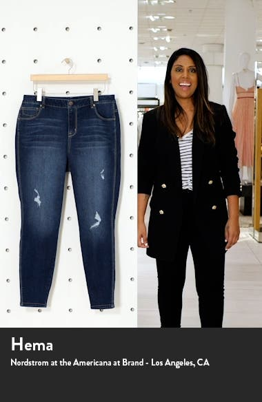 Re:Denim Distressed Ankle Skinny Jeans, sales video thumbnail
