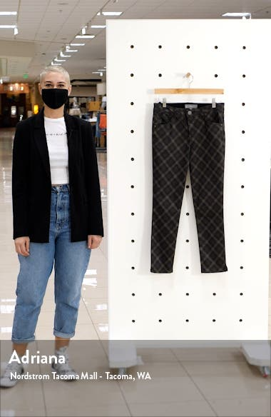 Ab-Solution Plaid High Waist Ankle Skinny Pants, sales video thumbnail