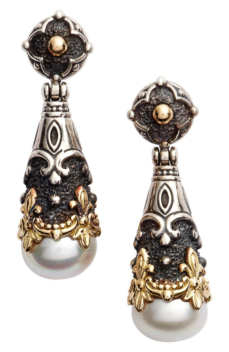 KONSTANTINO Nemesis Teardrop Earrings, Main, color, PEARL