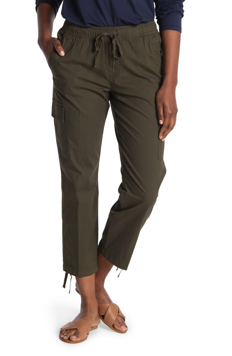 SANCTUARY Pull-On Joggers, Main, color, DARK OLIVE