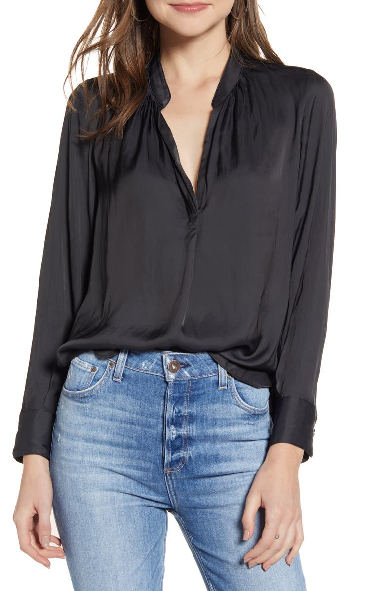 ZADIG & VOLTAIRE Tink Blouse, Main, color, 001