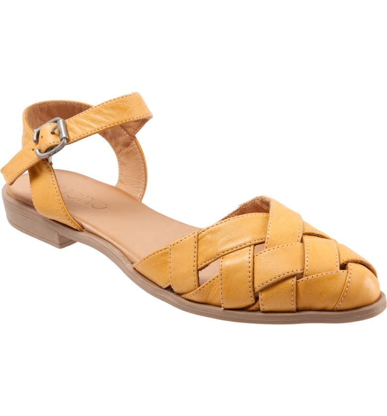 BUENO Bliss Slingback d'Orsay Flat Sandal, Main, color, MUSTARD LEATHER