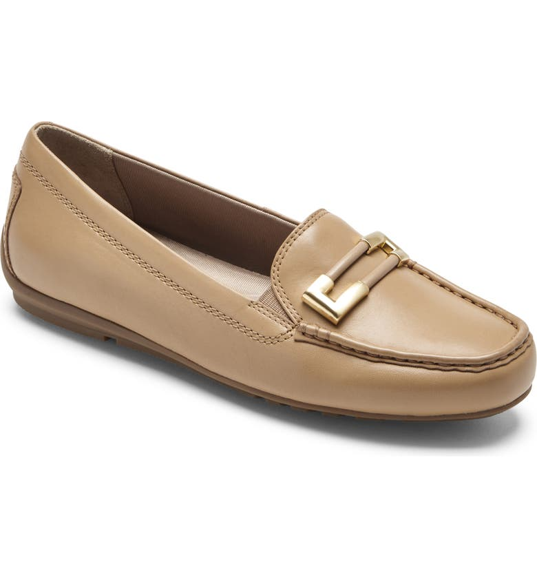 ROCKPORT New Ornament Flat, Main, color, MACADEMIA LEATHER