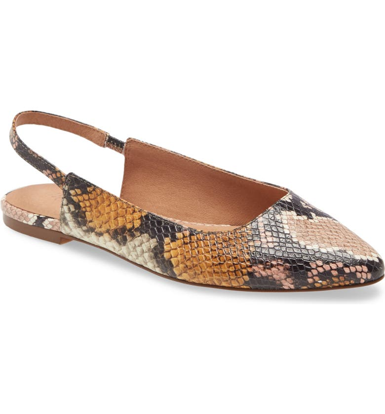 MADEWELL MARGO FLAT, Main, color, FORGOTTEN PETAL MULTI LEATHER