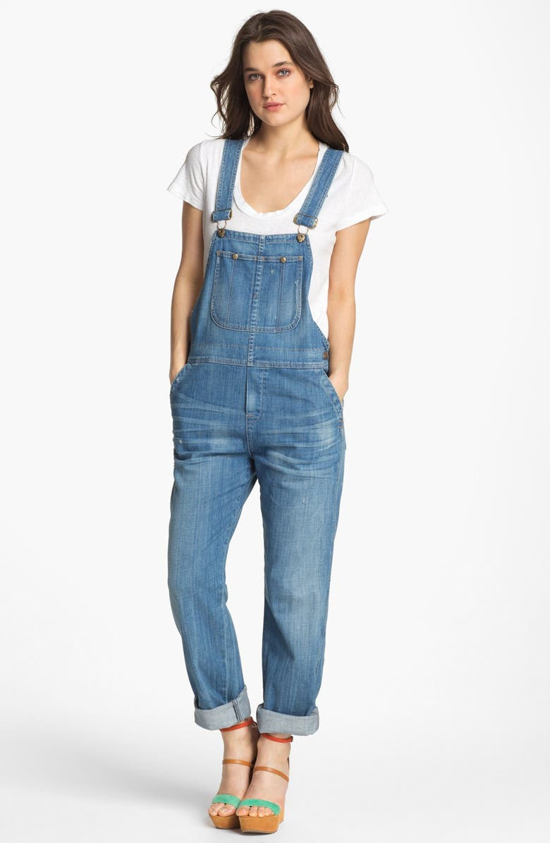 CITIZENS OF HUMANITY 'Quincy' Stretch Denim Overalls, Main, color, COUNTY