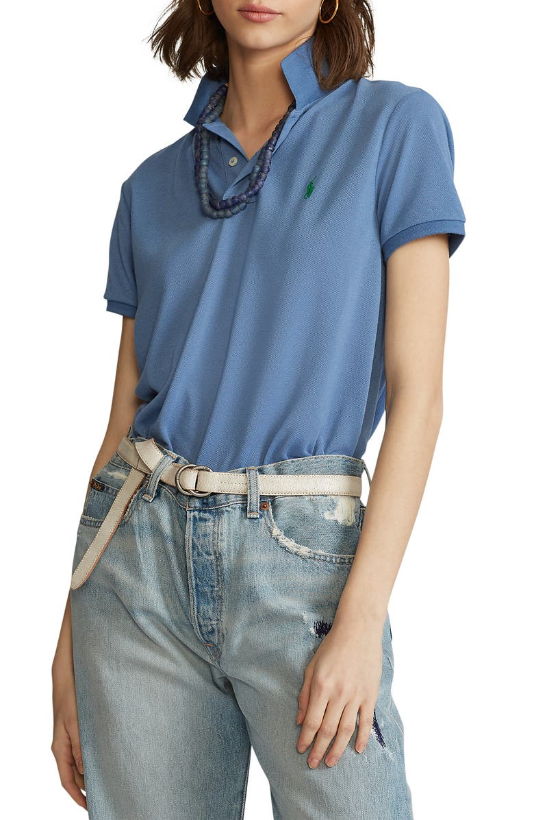 POLO RALPH LAUREN Earth Classic Fit Polo, Main, color, FRENCH BLUE