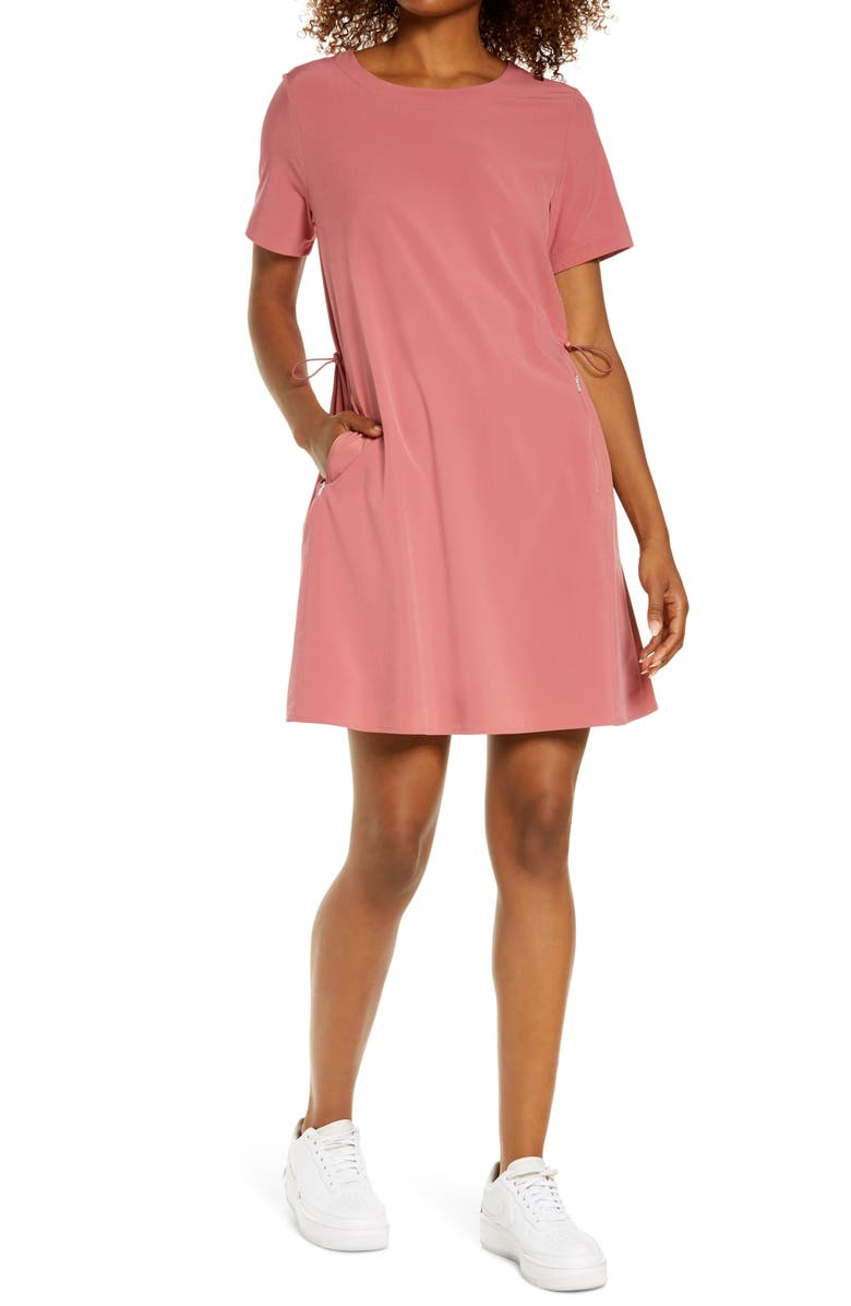 ZELLA Cinch Side Dress, Main, color, PINK MAUVE