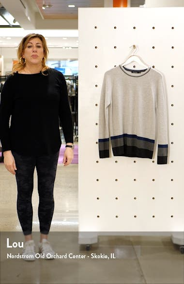 Stripe Wool & Cashmere Blend Crewneck Sweater, sales video thumbnail