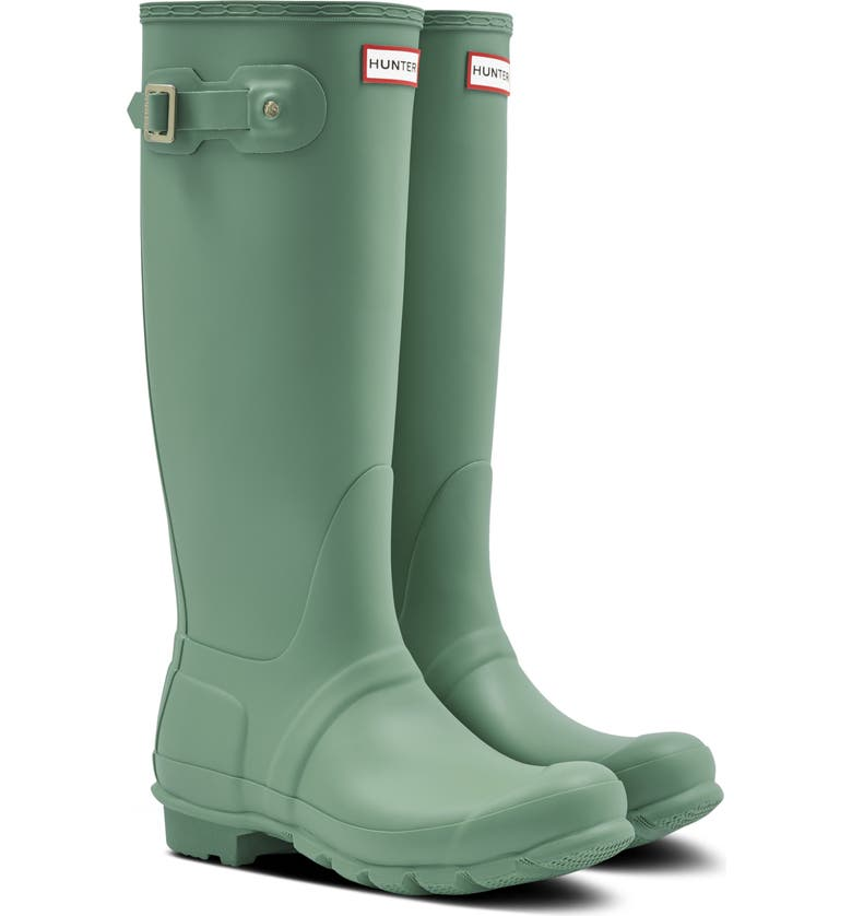 HUNTER Original Tall Waterproof Rain Boot, Main, color, SAGE SKIPPER