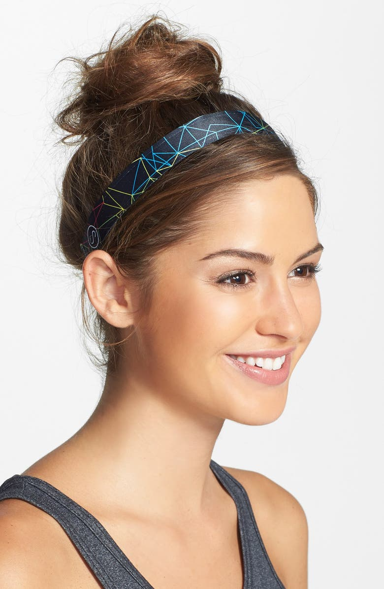SWEATY BANDS 'Web of Lies' Fitness Head Wrap, Main, color, 001