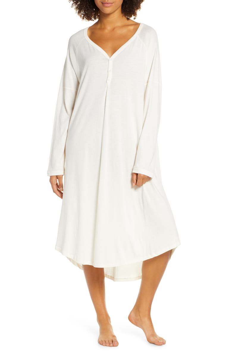 THE GREAT. The Nightshirt Long Nightgown, Main, color, 112