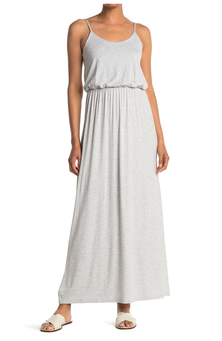 ALL IN FAVOR Knit Maxi Dress, Main, color, LIGHTER GREY