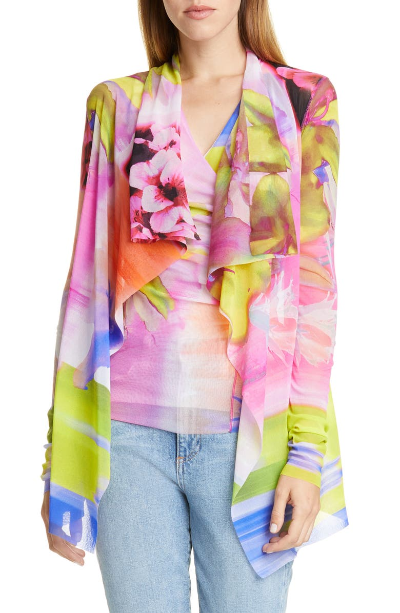 FUZZI Floral Drape Jacket, Main, color, 650