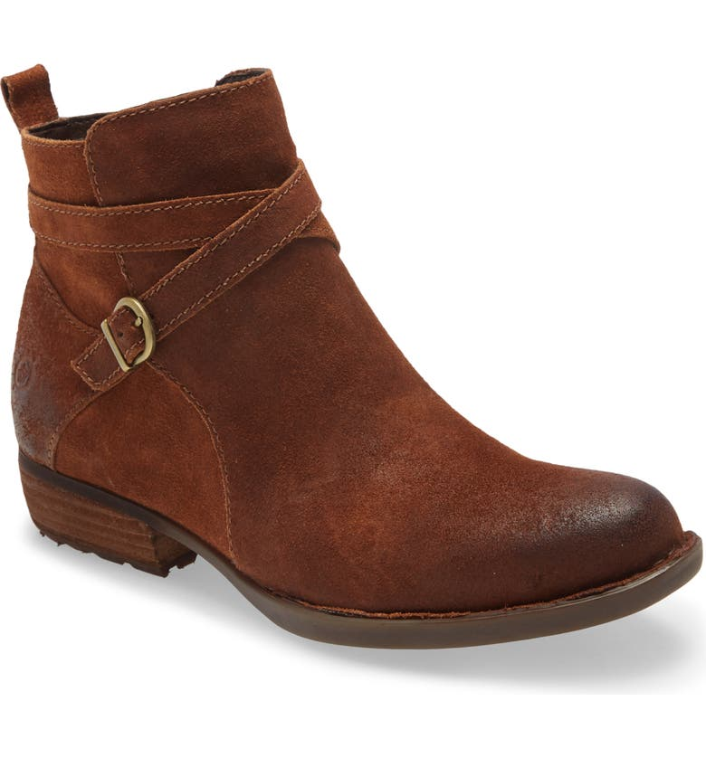BØRN Faywood Bootie, Main, color, RUST DISTRESSED LEATHER