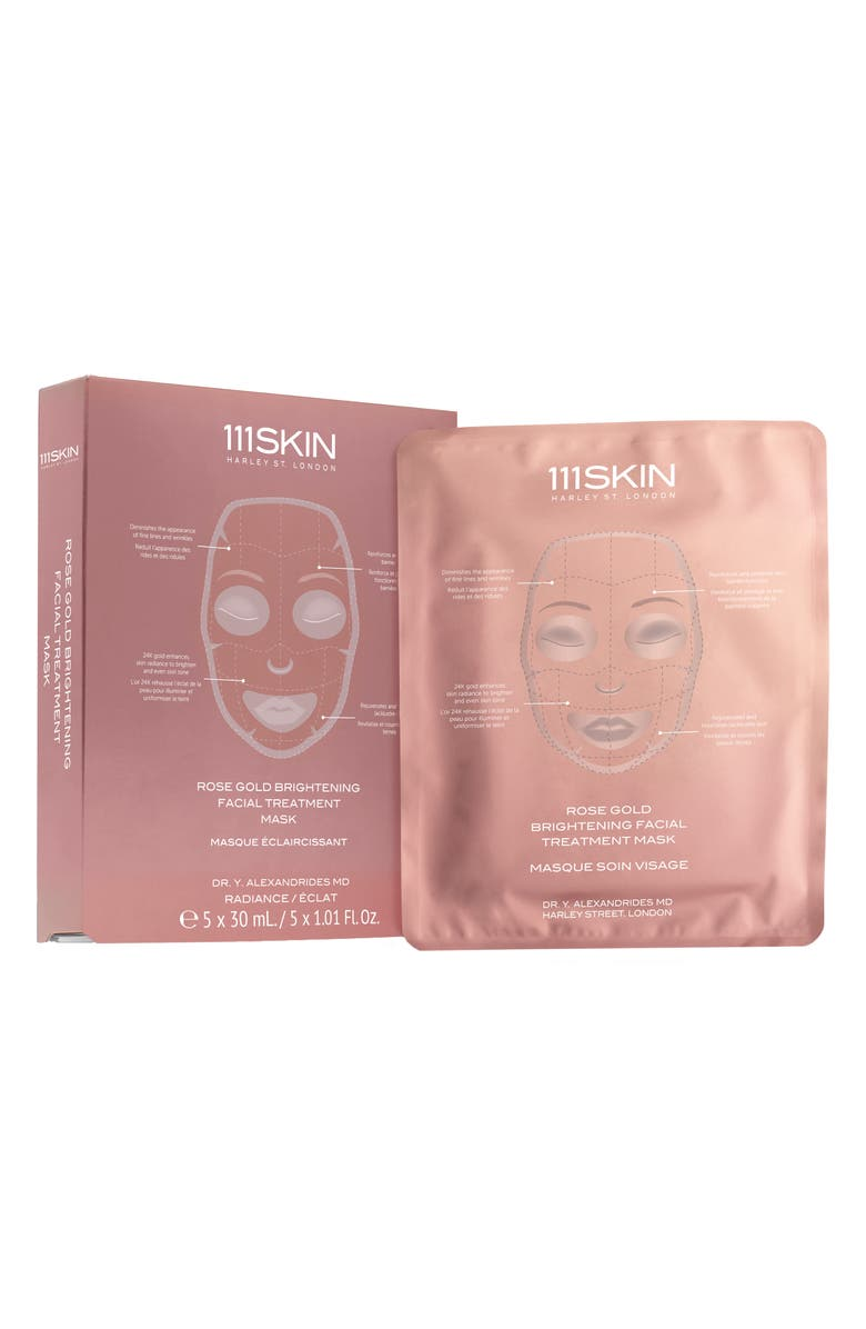 111SKIN 5-Pack Rose Gold Brightening Facial Treatment Mask, Main, color, NO COLOR