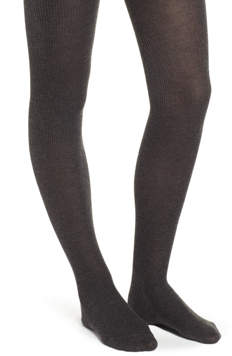 NATORI Regent Sweater Tights, Main, color, CHARCOAL