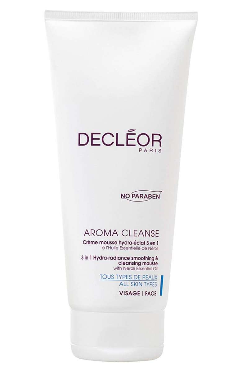 DECLÉOR Aroma Cleanse 3-in-1 Hydra-Radiance Smoothing & Cleansing Mousse, Main, color, 000