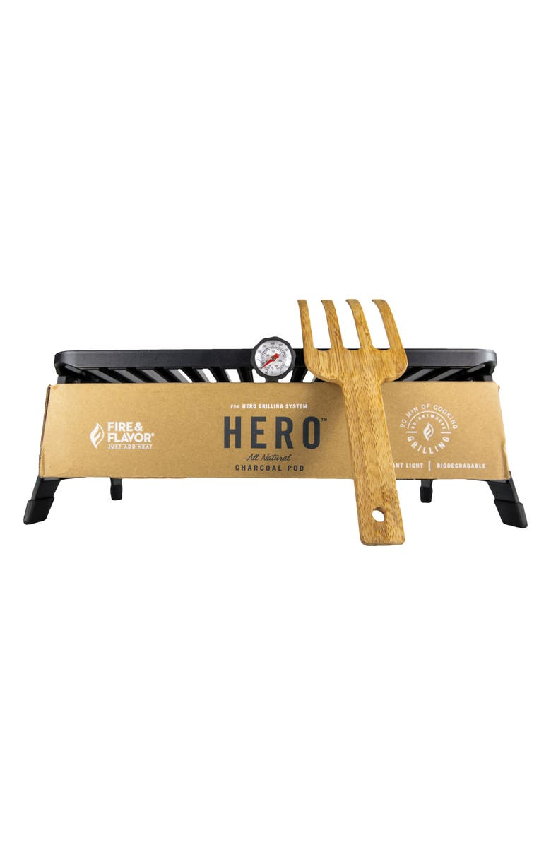 FIRE AND FLAVOR Hero<sup>™</sup> Portable Charcoal Pod Grilling System, Main, color, MULTI