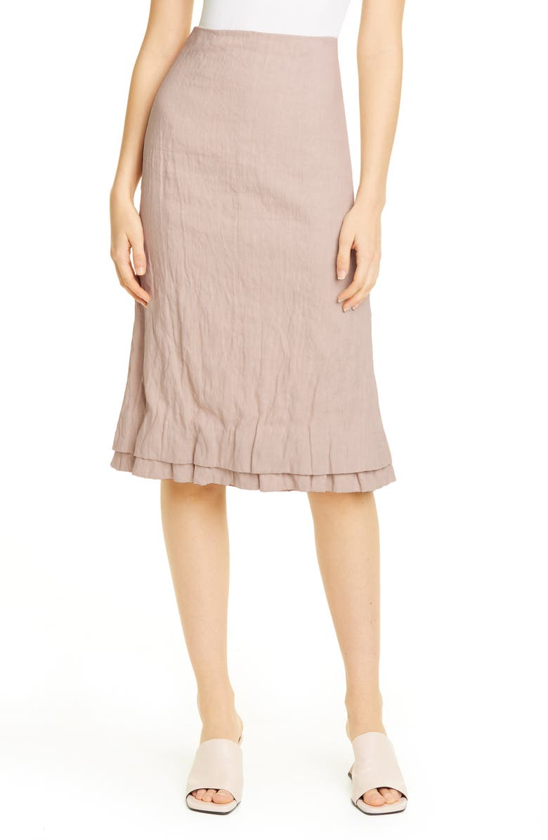 BROCK COLLECTION Linen & Cotton Pencil Skirt, Main, color, 250