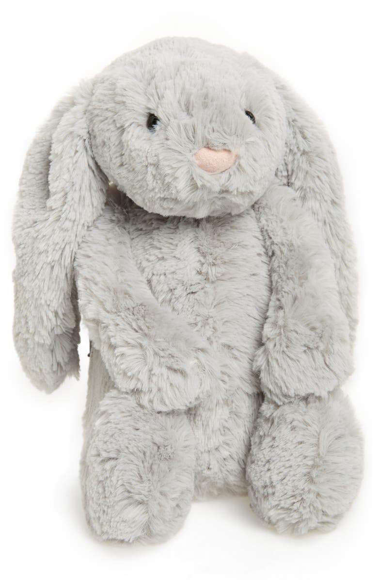 JELLYCAT Bashful Bunny Stuffed Animal, Main, color, Grey