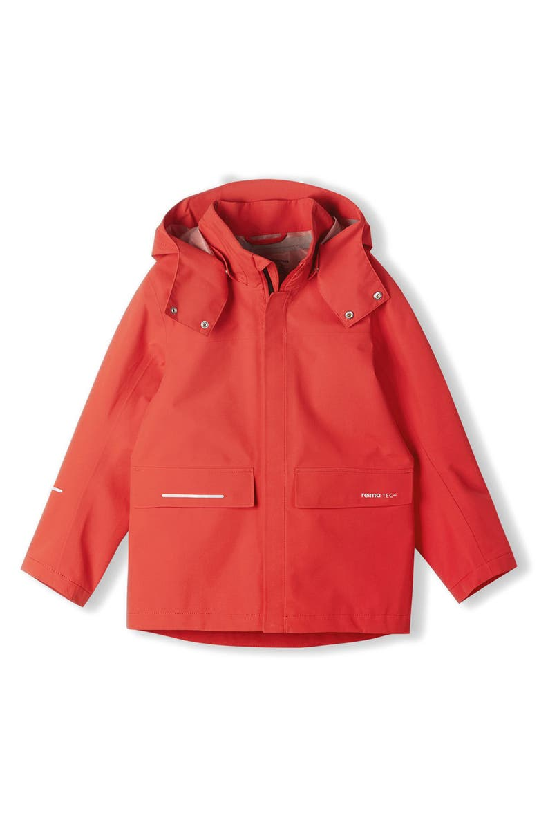 REIMA Kids' Voyager Reimatec Waterproof Rain Jacket, Main, color, TOMATO RED