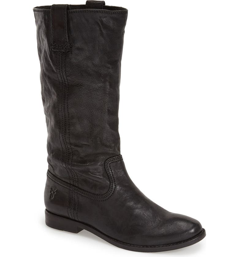 FRYE 'Anna - Mid' Boot, Main, color, BLACK LEATHER LEATHER