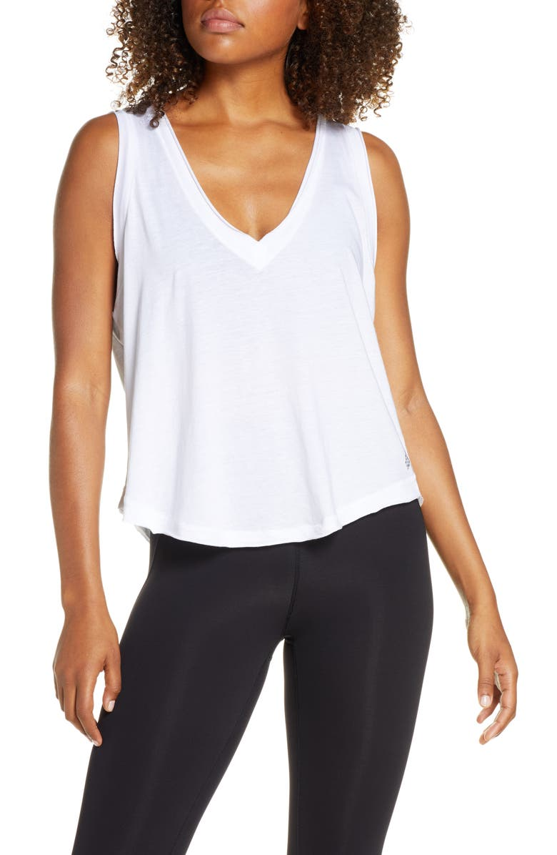 FREE PEOPLE FP MOVEMENT Henry Tank Top, Main, color, WHITE