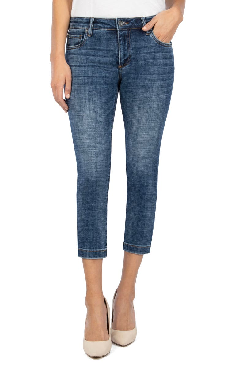 KUT FROM THE KLOTH Lauren Crop Straight Leg Jeans, Main, color, ABILITY