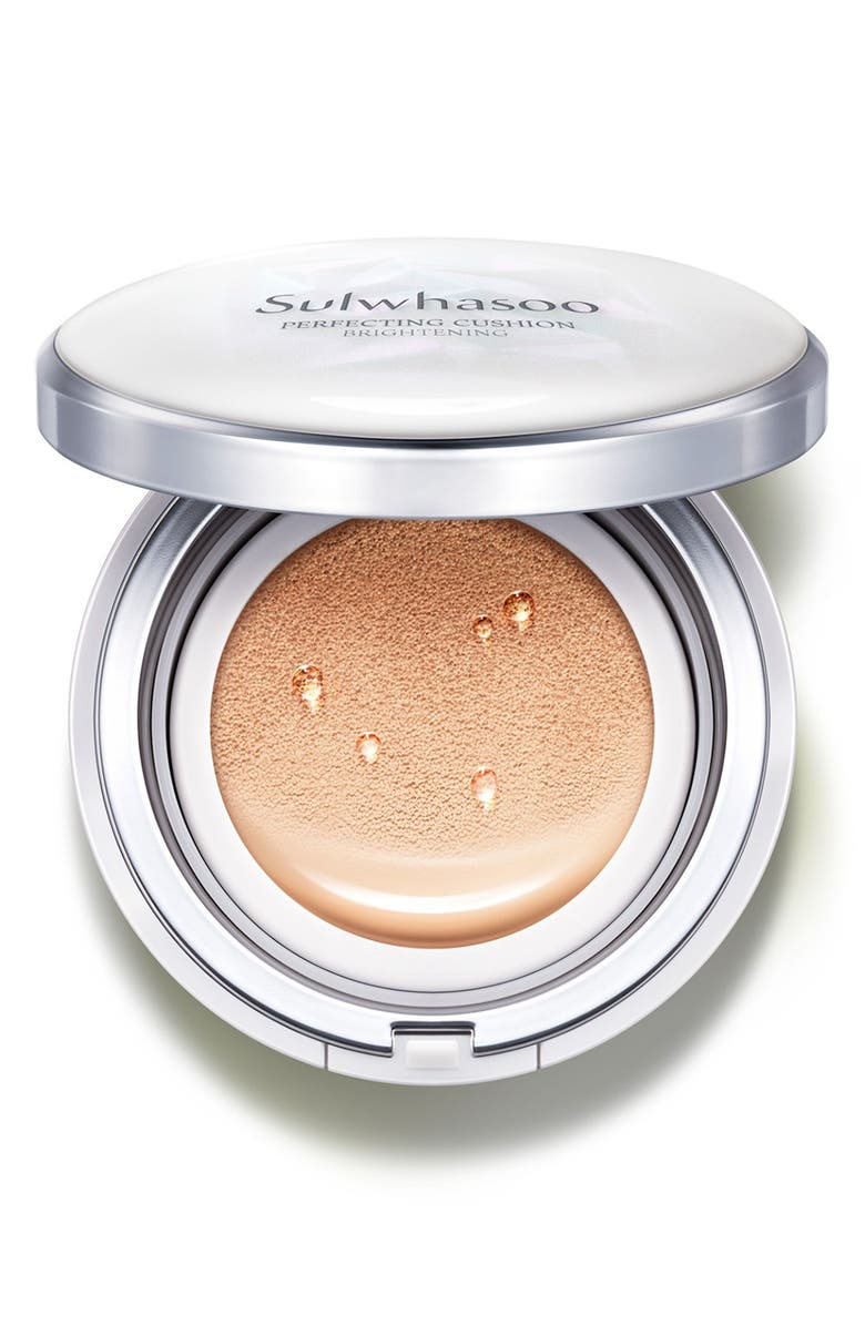 SULWHASOO Perfecting Cushion Brightening Foundation, Main, color, 25 DEEP BEIGE