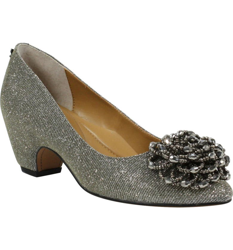 J. RENEÉ J.Renée Deyanne Pump, Main, color, PEWTER GLITTER FABRIC