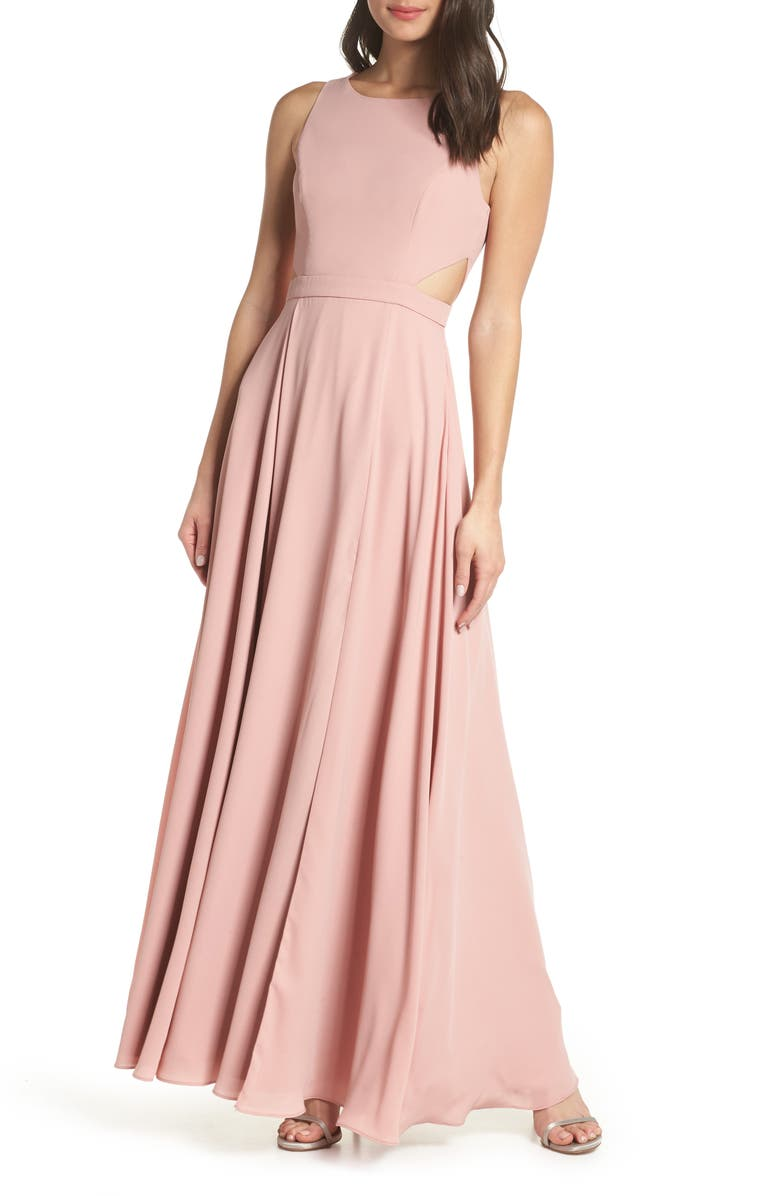 FAME AND PARTNERS Side Cutout Evening Dress, Main, color, 690