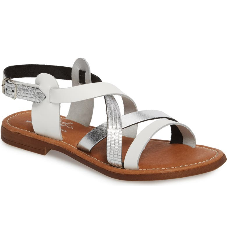 BOS. & CO. Ionna Sandal, Main, color, WHITE/ SILVER SNAKE LEATHER