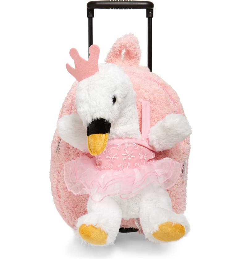 POPATU Ballet Swan Trolley Backpack, Main, color, PINK