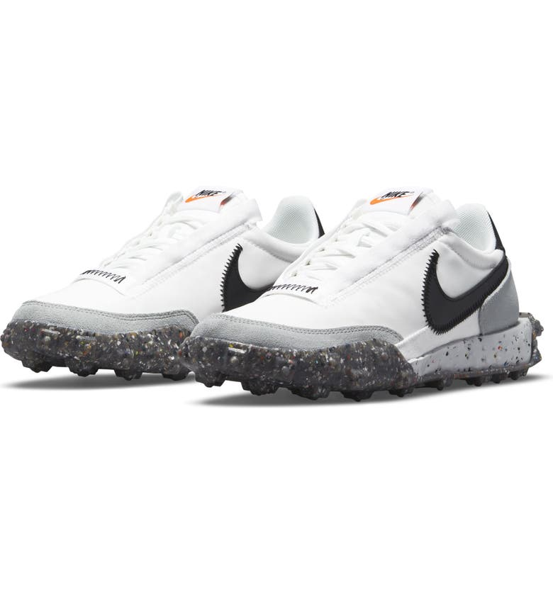 NIKE Waffle Racer Crater Sneaker, Main, color, WHITE/ BLACK/ PHOTON/ GREY