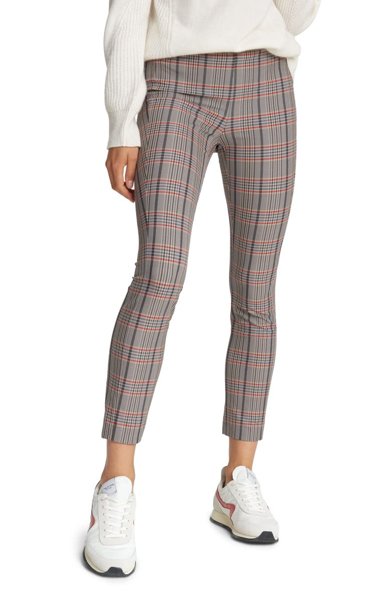 RAG & BONE Simone Check Pants, Main, color, BLUE MULTI