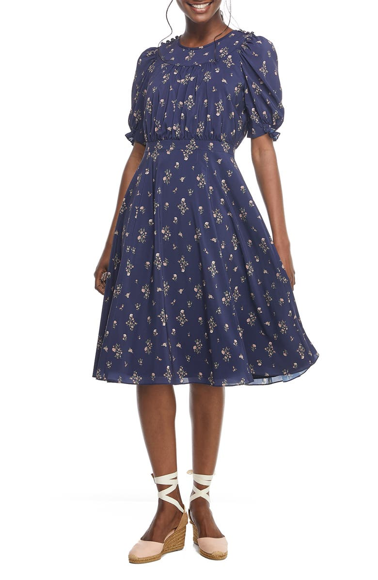 GAL MEETS GLAM COLLECTION Emily Fit & Flare Dress, Main, color, 467