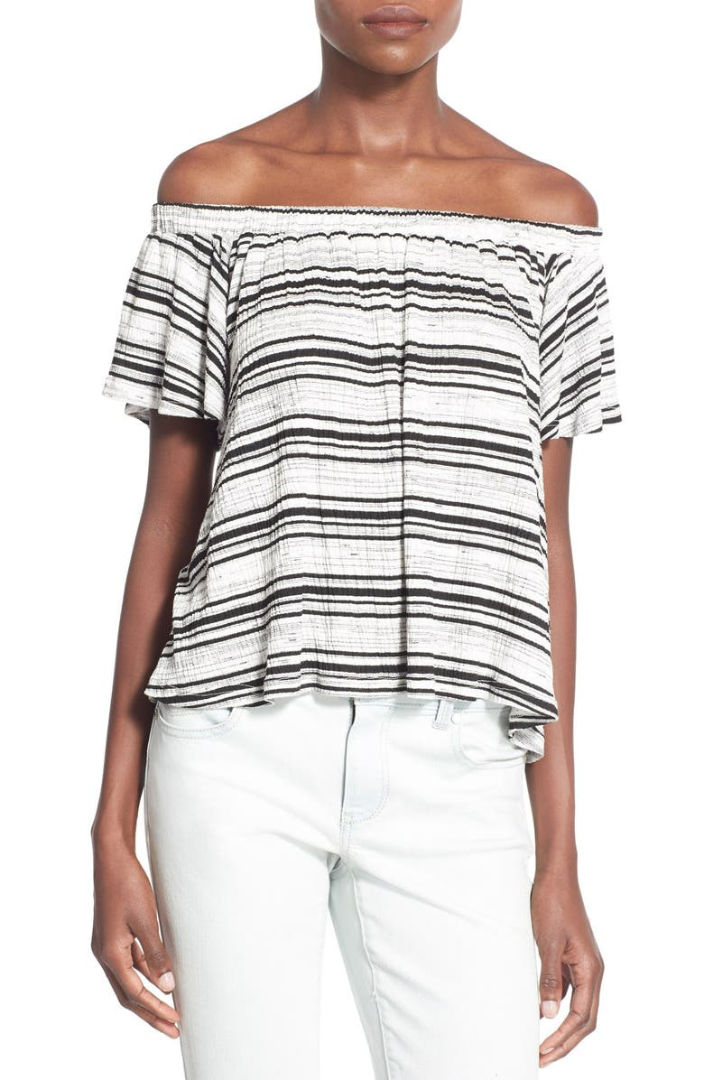 --- Stripe Off the Shoulder Top, Main, color, 001