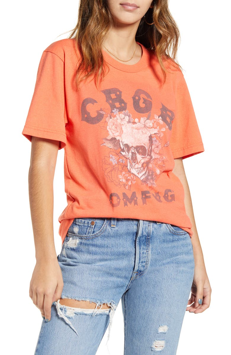 RECYCLED KARMA CBGB Recycled Polyester & Cotton Tee, Main, color, 640