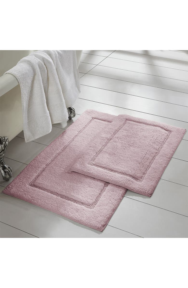 MODERN THREADS Dusty Rose Solid Loop Non-Slip Bath Mat 2-Piece Set, Main, color, DUSTY ROSE