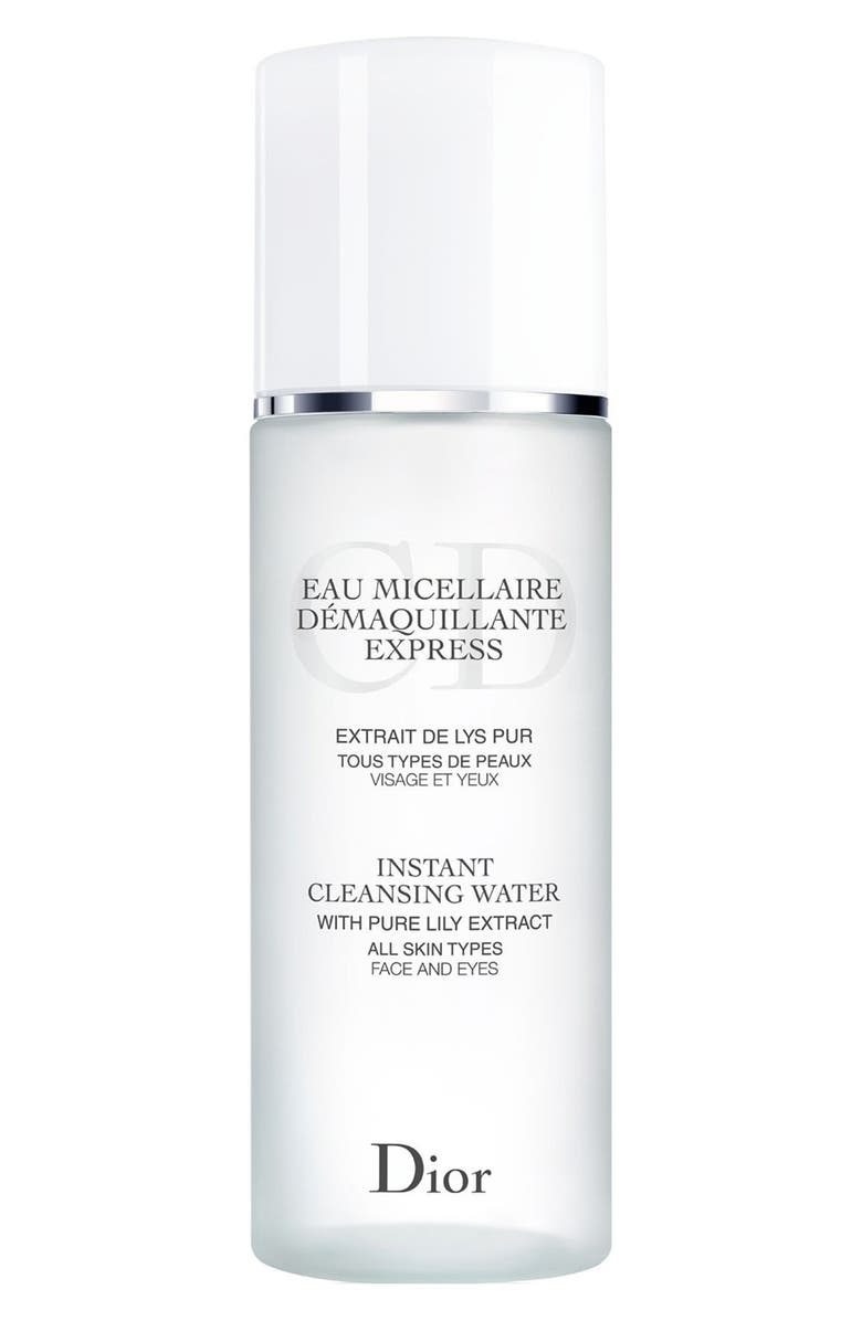 DIOR Instant Cleansing Water for All Skin Types, Main, color, NO COLOR