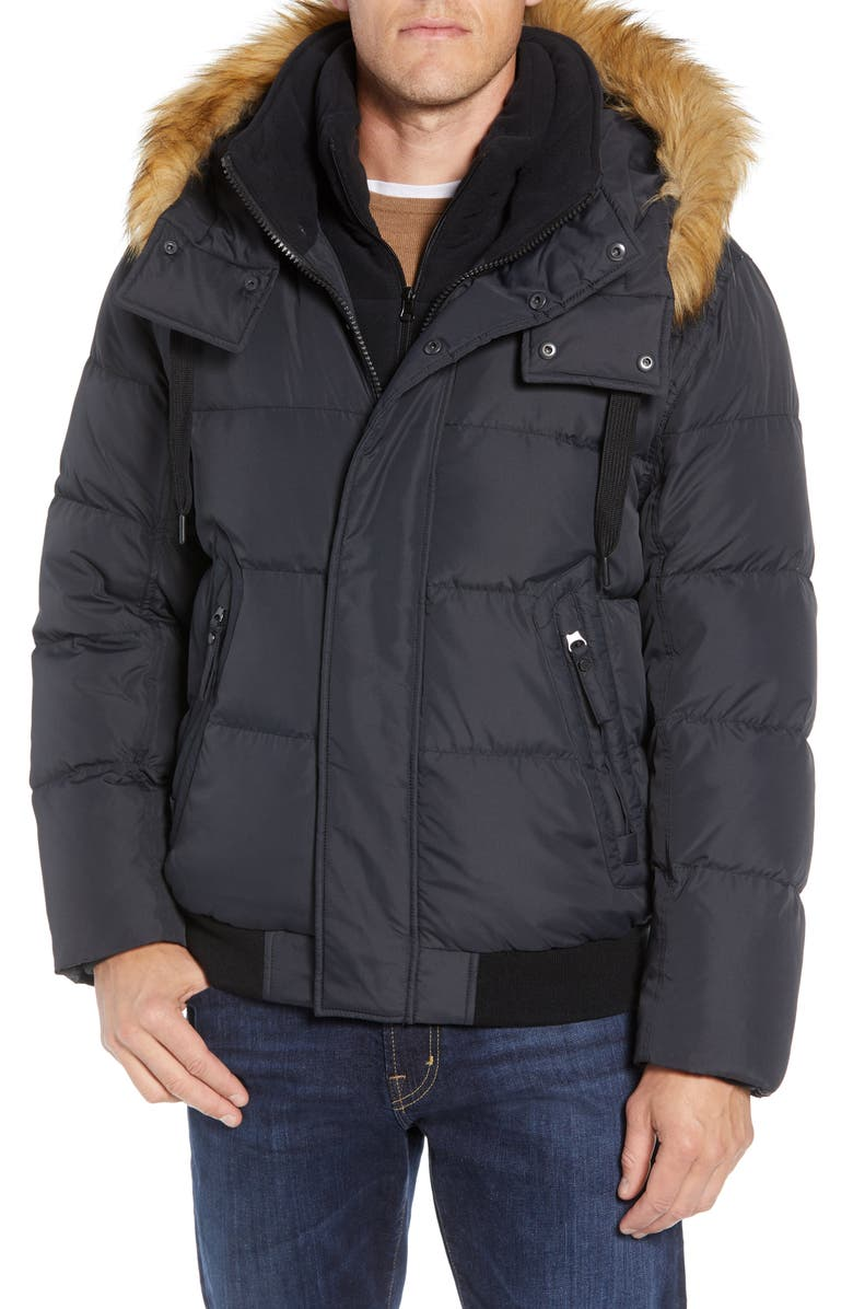 MARC NEW YORK Clermont Insulated Bomber Jacket, Main, color, 001