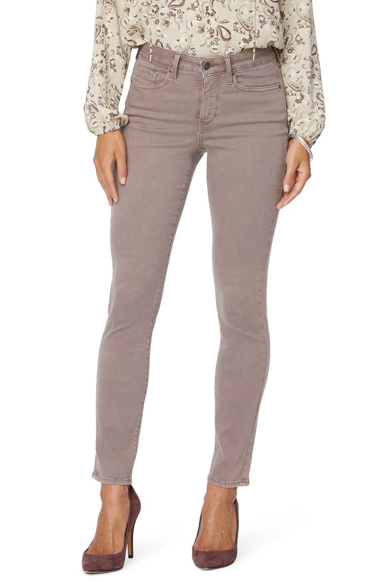 NYDJ Alina Ankle Skinny Jeans, Main, color, DEEP TAUPE